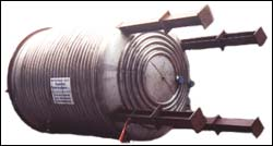 SS Half-Pipe Jacketed Pressure Vessel J-50